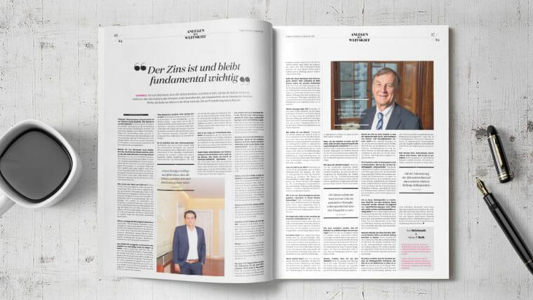 Der Zins ist und bleibt fundamental wichtig – Interview mit Karl Reichmuth und Vahan P. Roth