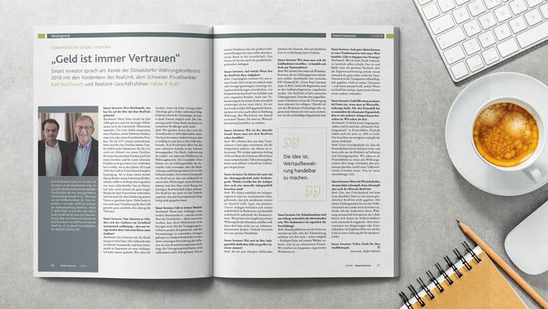 Geld ist immer Vertrauen – Interview Karl Reichmuth und Vahan P. Roth